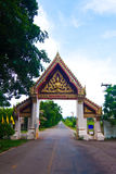 艺术泰国门的寺庙 库存图片