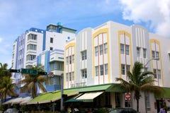 艺术海滩南deco的旅馆 库存图片