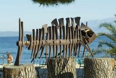 艺术海滩陈列安装 库存图片
