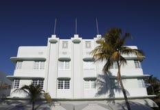 艺术海滩deco旅馆南的迈阿密 免版税库存照片