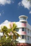 艺术海滩deco旅馆南的迈阿密 库存照片