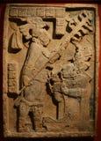 艺术玛雅人雕塑 库存照片