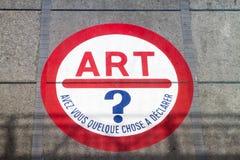 艺术现代巴黎 库存照片