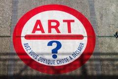 艺术现代巴黎 免版税库存照片