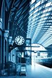 艺术现代修造的伦敦国王十字车站 图库摄影