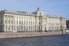 艺术的学院的大厦 圣彼德堡 库存图片