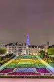 艺术的登上在布鲁塞尔,比利时。 库存照片