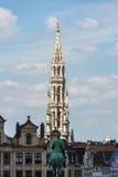 艺术的登上在布鲁塞尔,比利时 库存照片