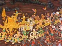 艺术皇家寺庙泰国墙壁 图库摄影