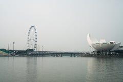 艺术科技馆看法和弗累斯大转轮新加坡 图库摄影