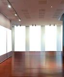 艺术空白框架画廊墙壁 库存照片