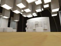 艺术空白框架画廊 库存图片