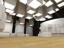 艺术空白框架画廊 免版税库存照片