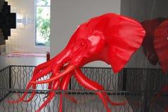 艺术红色大象  库存照片