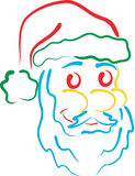 艺术线路圣诞老人 库存例证