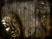 艺术细致的例证现代宗教信仰 图库摄影