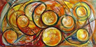 艺术细致的绘画漩涡 免版税库存照片