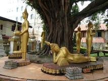 艺术细节在佛教寺庙的 免版税库存照片