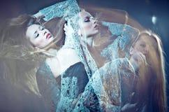 艺术美丽的细致的照片妇女年轻人 免版税库存照片