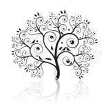 艺术美丽的结构树 免版税库存图片