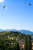艺术美好的风景在普罗旺斯 库存照片