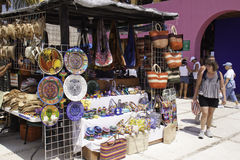 艺术肋前缘制作玛雅人墨西哥souviner 库存照片