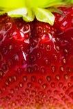 艺术背景夏天新鲜的草莓 免版税图库摄影