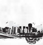 艺术背景摩天大楼导航白色 皇族释放例证