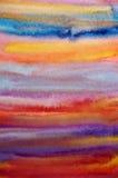 艺术背景明亮的手画水彩 向量例证