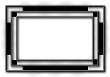艺术背景黑色deco框架 库存图片