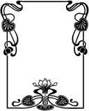 艺术花卉框架nouveau 免版税库存照片