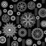 艺术花卉模式 免版税库存照片