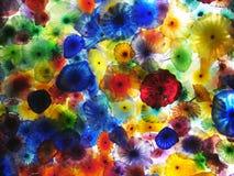 艺术花玻璃 库存照片