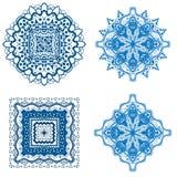 艺术蓝色样式 库存例证