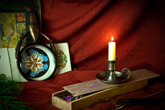 艺术蜡烛工作室 免版税图库摄影