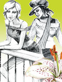 艺术被画的女孩二 免版税库存照片