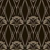 艺术装饰传染媒介几何样式 无缝的纹理背景d 免版税库存图片