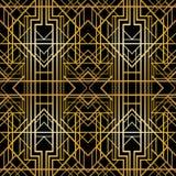 艺术装饰几何样式(20世纪20年代样式),无缝的墙纸 免版税库存图片