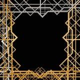 艺术装饰几何框架 库存照片