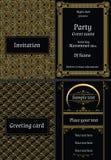艺术装饰卡片 免版税库存照片