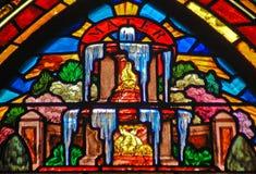 艺术装饰喷泉玻璃 免版税库存照片