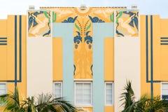 艺术装饰大厦在迈阿密海滩,佛罗里达 免版税库存图片