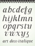 艺术装饰字母表 库存照片