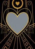 艺术装饰心脏边界 免版税库存照片