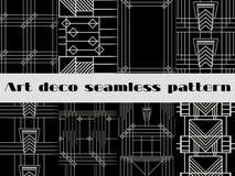 艺术装饰无缝的样式 艺术装饰几何无缝的样式 向量例证