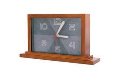 艺术装饰木时钟 库存照片