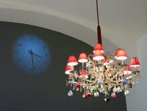 艺术装饰枝形吊灯  免版税库存图片