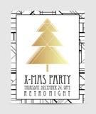 艺术装饰样式圣诞节贺卡模板 抽象vintag 图库摄影