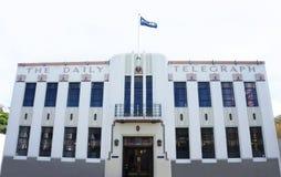 艺术装饰样式在2015年10月采取的每日电讯报大厦在纳皮尔,新西兰 库存图片