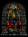艺术装饰样式彩色玻璃, Montmarte,巴黎 免版税库存照片
